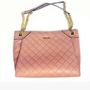 CK pink quilted purse w/ dust bag